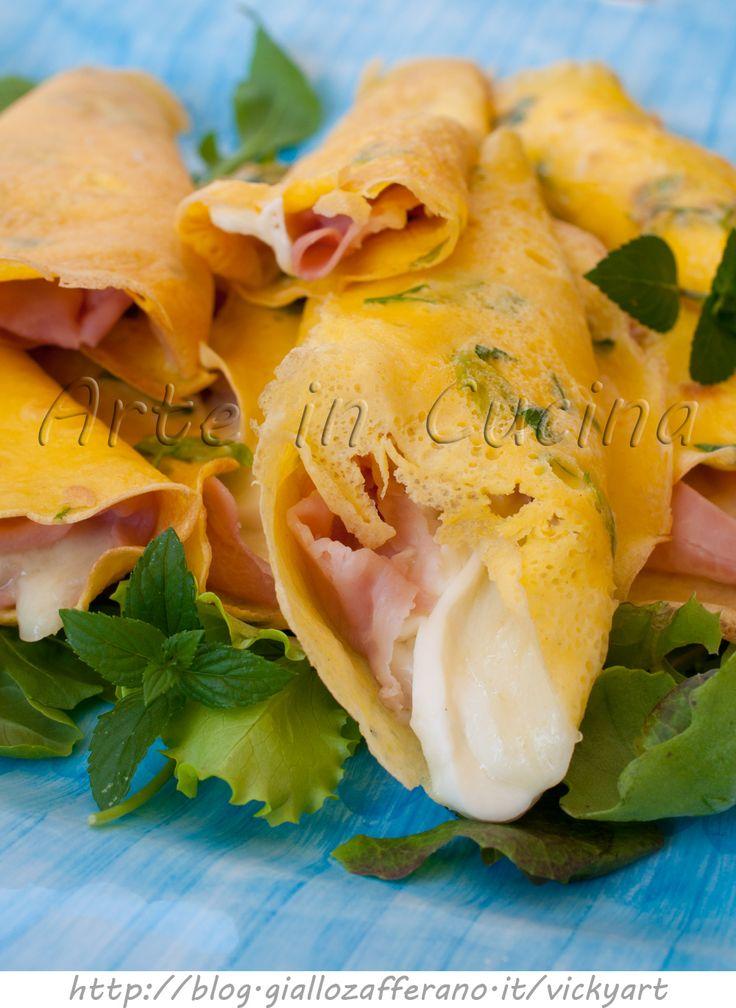 Fagottini veloci salati con prosciutto e mozzarella vickyart arte in cucina