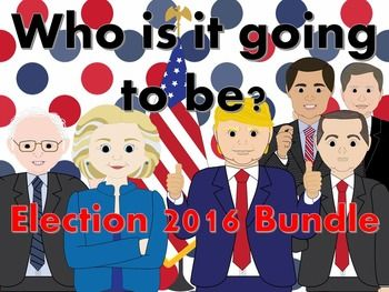 All of my Presidential Election products in one place at a reduced price!!   This bundle includes:  Presidential Election Process Powerpoint Presidential Election Process Note Sheet Presidential Election Video Questions  Journeys with George Presidential Campaign  Election Project Campaign Finance Videos Presidential Debate Viewing Guide  Election 2016 Comparison to 1968