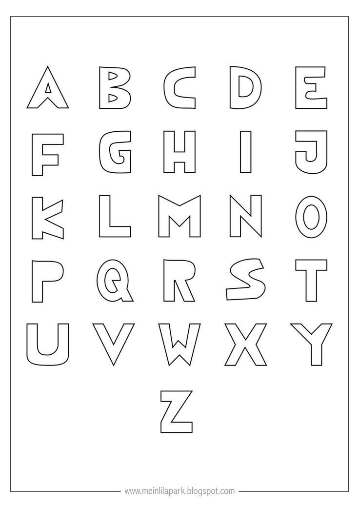 25+ unique Alphabet letter templates ideas on Pinterest