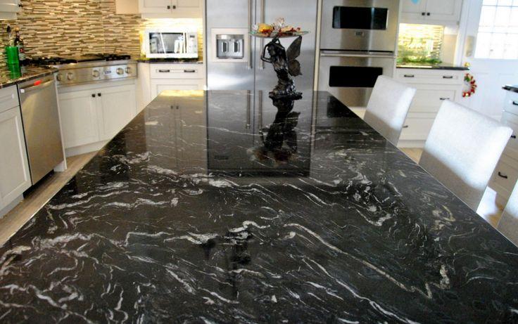 Amazing Titanium Granite Countertop Idea In Dark Theme