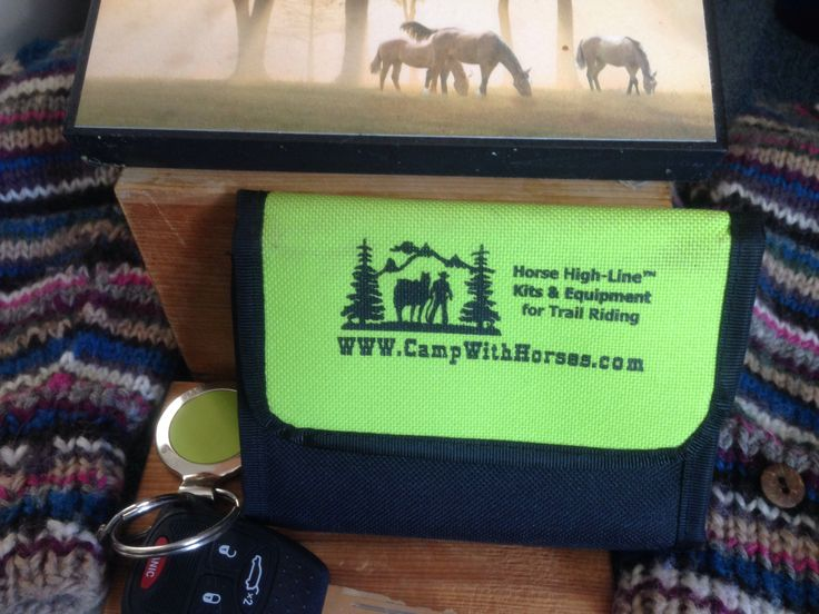 Riders ID WALLET use in place of your original while riding, be safe carry ID www.campwithhorses.com