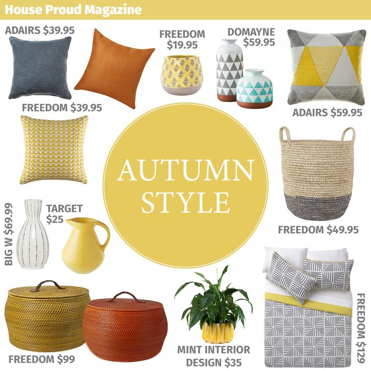 Our picks for Autumn 2015's home decor sourced by House Proud Magazine