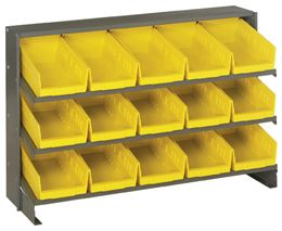 """Store-More 6"""" Shelf Bins (QSB Series) Sloped Shelving Systems"""