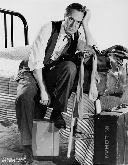 Fredric March in a promtional still from Death of a Salesman