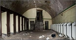 deserted toilets