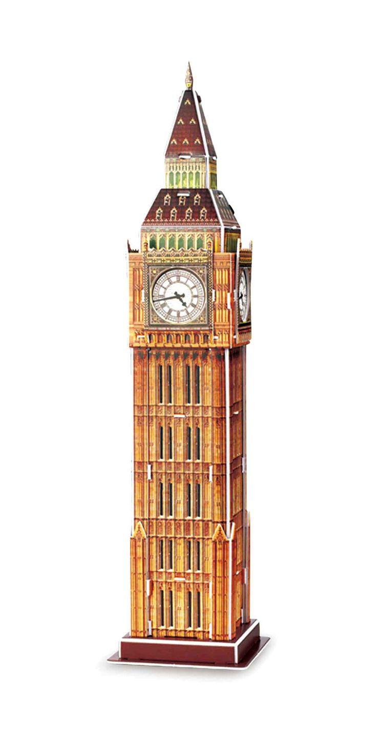 Het zijn helemaal geen schaar een lijm nodig om Big Ben in elkaar te zetten, omdat het simpelweg bijeengestoken wordt. Dit traint de hand-oog coördinatie en onderwijst tegelijkertijd een beetje de wereldgeschiedenis: Big Ben is de nick-naam voor de klok in de klokkentoren van de Westminster Palace. Hij behoort tot de beroemde kenmerken van de metropool Londen.