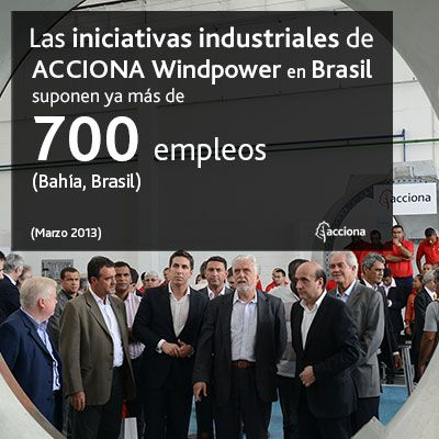 ACCIONA Windpower inaugura su primera planta de fabricación eólica en Brasil.