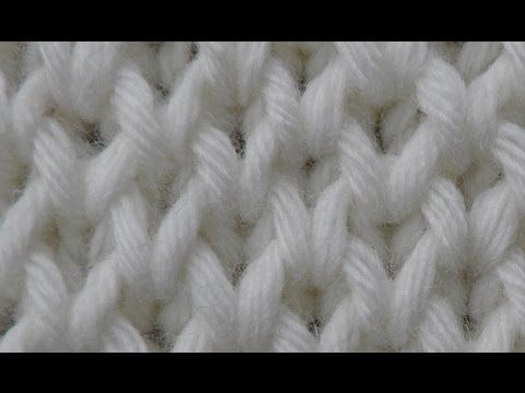 HONEYCOMB BRIOCHE KNITTING STITCH PATTERNS / NID D'ABEILLE / СОТЫ - YouTube