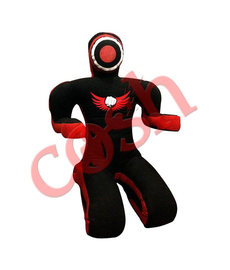 """Brazilian Jiu JItsu MMA Grappling Dummy,Wrestling,Fighting Dummies COSH Submission Double-Face Style Black-Red MMA Grappling Dummy In Canvas 72"""" #COSH"""