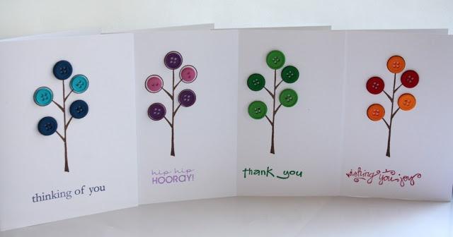 Kaartjes maken met kleine button tree