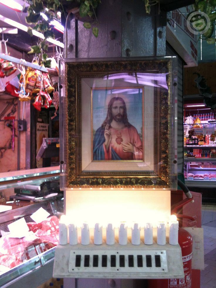 Jesus at the Meat Market, Torino, Italy