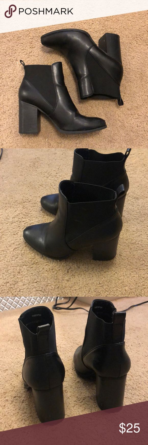 Black Leather Heeled Booties These are great booties for going out or pairing with a cute outfit! For heels these are super comfortable and are super …