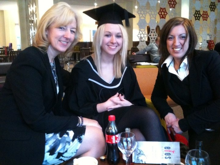 The Mother, me and Nic. As it was my Graduation day, I was allowed two glasses of wine at the same time without the stigma / smart comments...