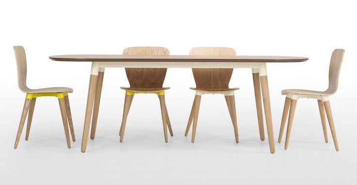 Edelweiss, une table à rallonges, frêne et blanc | made.com
