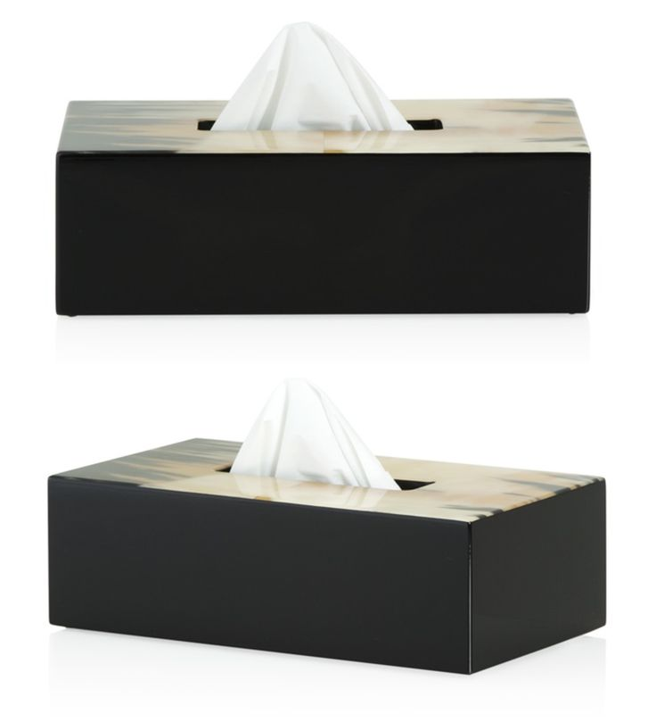 The Freya Tissue Box Holder seamlessly blends a chic and contemporary style to a room. The Box has been impeccably been finished in genuine horn.
