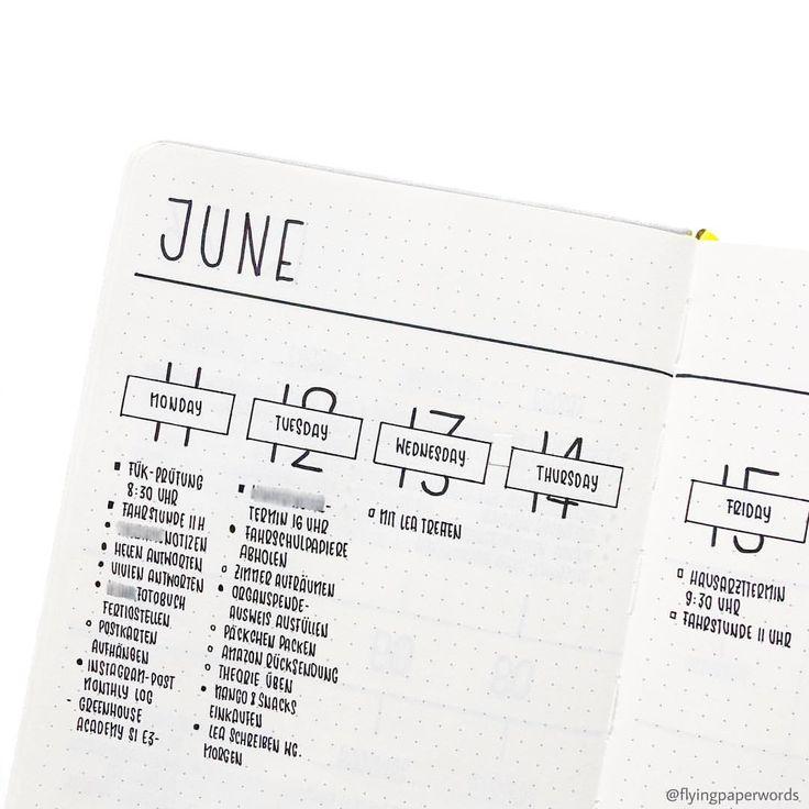 13/06/2018 My current weekly spread 😌 #bujo #bu…