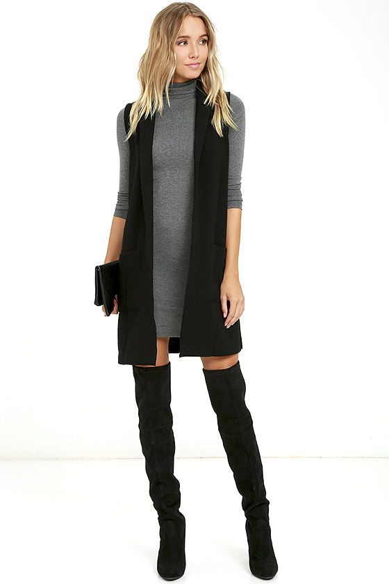 You'll be feeling fine in no time now that you've got the Phenomenal Feeling Grey Long Sleeve Bodycon Dress! Stretchy ribbed knit flaunts your figure as it forms a classic turtleneck atop this long sleeve bodycon dress.
