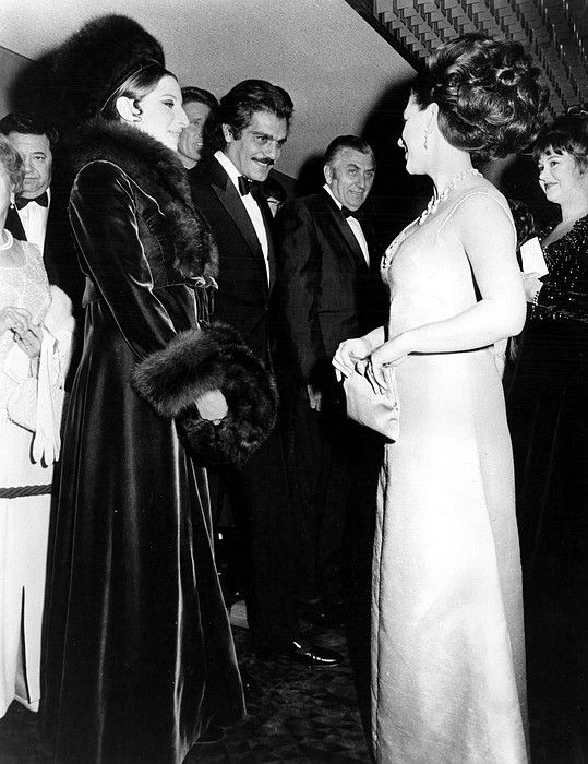Barbara Streisand and Omar Sharif with Princess Margaret, FUNNY GIRL London premiere, circa 1968
