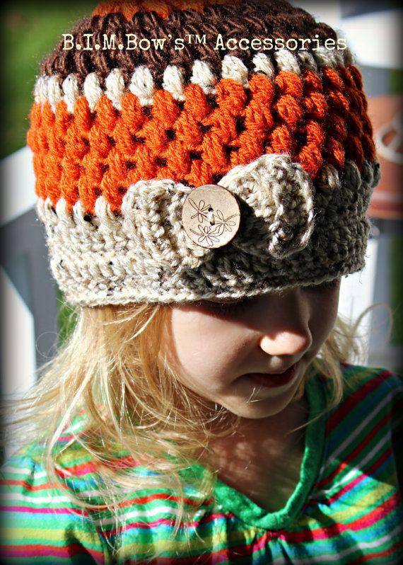 Crochet Girl's Hat, Crochet Hats for Girls, Crochet Beanie, on Etsy, $20.00
