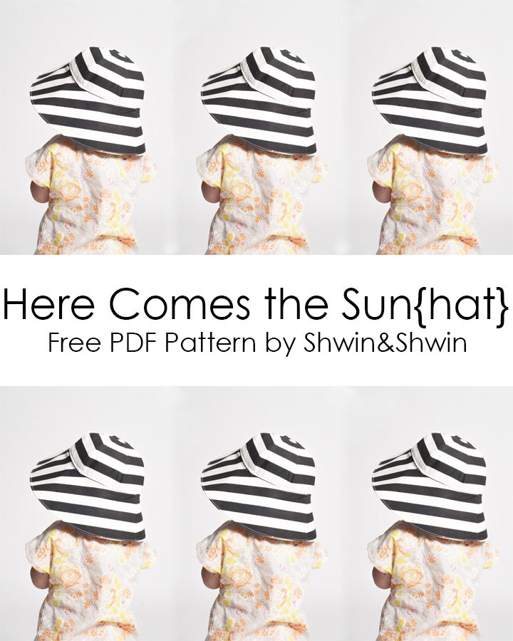 Shwin&Shwin: Here Comes the Sun{hat}    Free PDF Pattern    Summer Collection