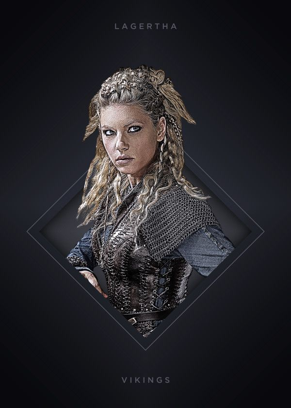 """Vikings Characters Lagertha #Displate artwork by artist """"Mequem Design"""". Part of a 7-piece set featuring artwork based on characters from the popular Vikings TV series. £35 / $46 per poster (Regular size) #Vikings #Ragnar #RagnarLothbrok #Lagertha #Bjorn #Rollo #Floki #Athelstan #Aslaug"""