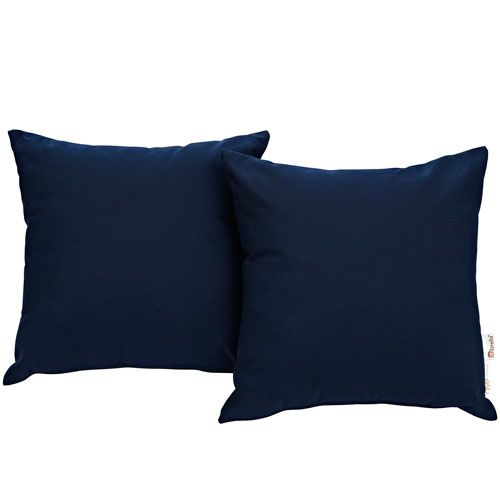 Modway Furniture Summon 2 Piece Outdoor Patio Pillow Set In Navy