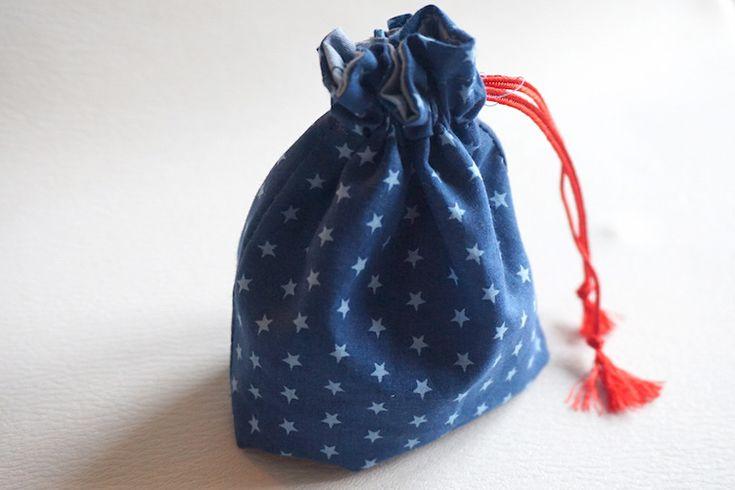 pochon couture en tissu étoilé Frou-Frou par Le Dé Cousu