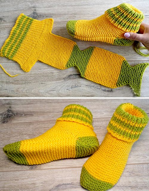 Two Needle Socks - Free Knitting Pattern (Amazing Knitting ...