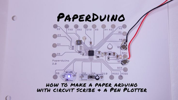 Make a paper arduino with circuit scribe and pen plotter
