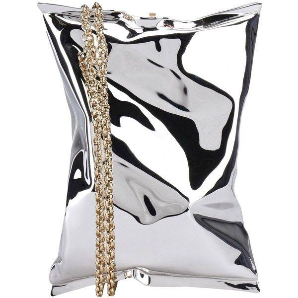 Anya Hindmarch Handbag (£750) ❤ liked on Polyvore featuring bags, handbags, silver, man bag, anya hindmarch handbags, animal bags, purse bag and anya hindmarch bags
