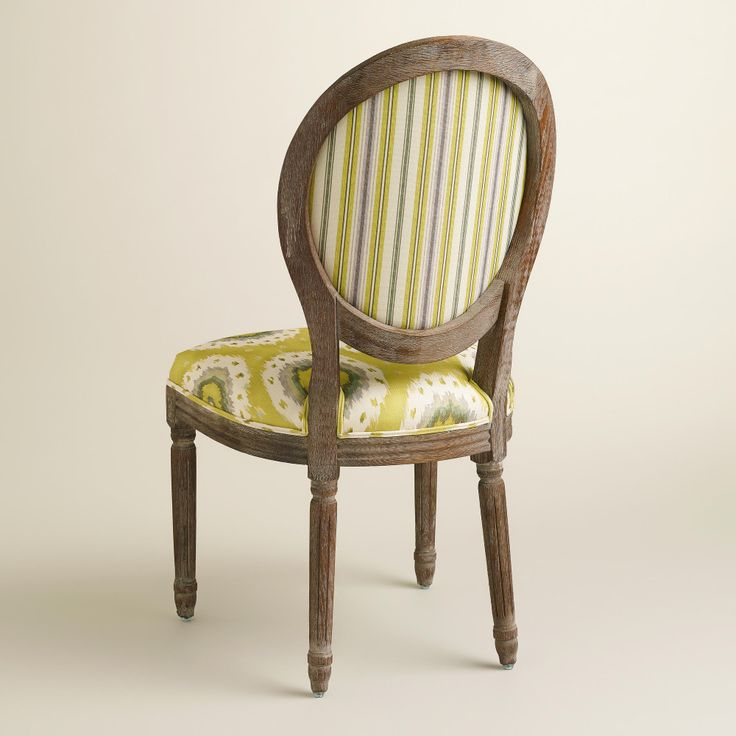 Ikat and striped paige dining chair we love these for Cute side chairs