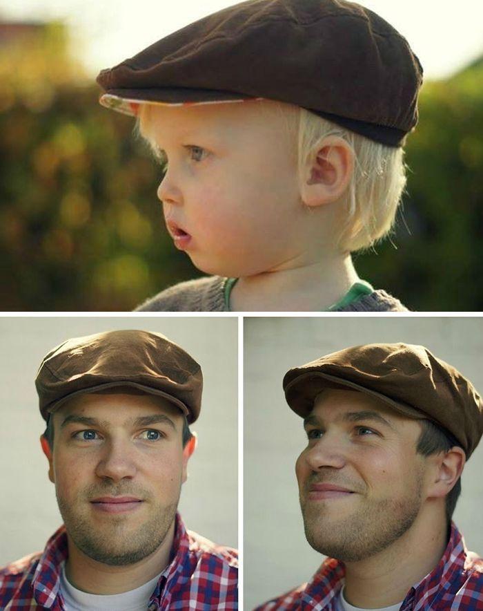 Flache Kappe für groß und klein - Schnittmuster und Nähanleitung via Makerist.de