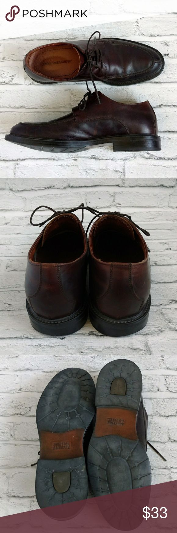 Johnston and Murphy classic shoes EUC. Made in Italy. Leather uppers. Deep rich brown. Johnston & Murphy Shoes Oxfords & Derbys