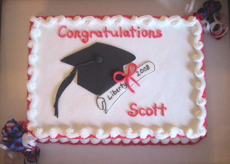 Congratulation Sheet Cake Ideas