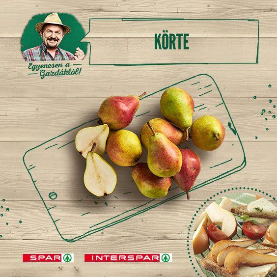 A körtének köszönhetően az őszi napsütés egész évben elkísér. Van egy receptem, amivel biztos jól indul a legszürkébb reggel is: http://www.spar.hu/hu_HU/spar_chef/receptek/eloetel/grillezett_korte_sajtos_piritoson.html