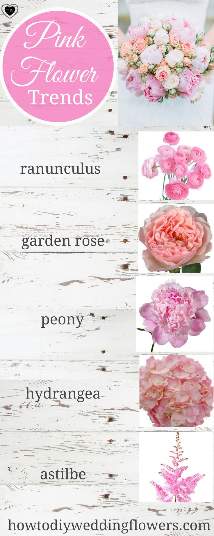 Pink Wedding flowers.