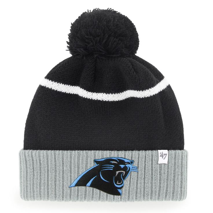 Carolina Panthers '47 Chopblock Cuffed Knit Hat - Black