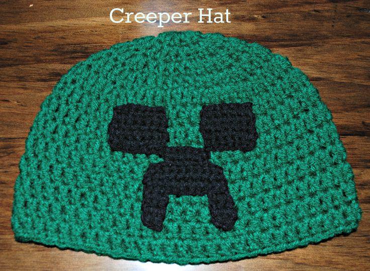 Crochet Creeper Minecraft Hat (All Sizes), http ...