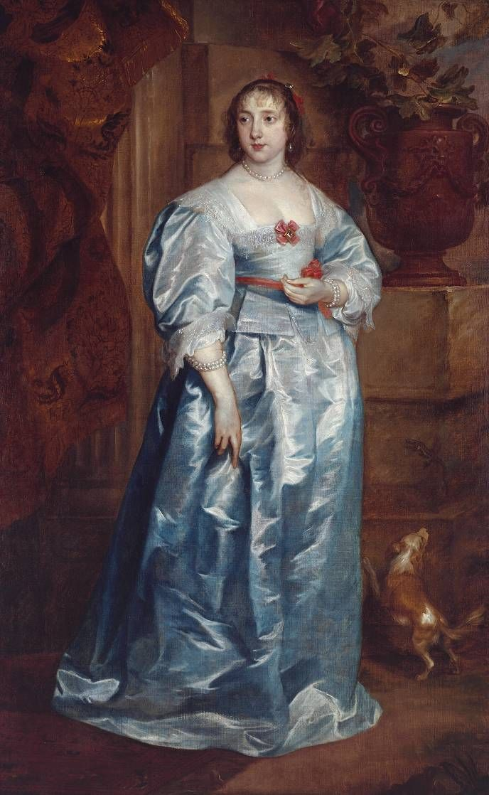 """A Lady of the Spencer Family"", ca. 1633-38, by Sir Anthony Van Dyck (Flemish, 1599-1641). This was painted at Althorp, Northants, the family seat of the Earls of Spencer. She could be Elizabeth (1618-72) daughter of William, 2nd Lord Spencer of Wormleighton. In 1634, Elizabeth Spencer married, as her first husband, John, 1st Lord Craven of Ryton (1610-48). Spaniels and lizards are symbols of fidelity, and would be appropriate inclusions in a portrait of a recently betrothed or married…"