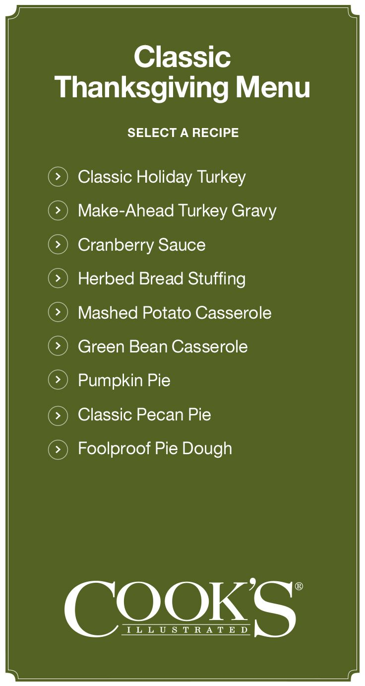 Classic Thanksgiving Recipes I Crate and Barrel
