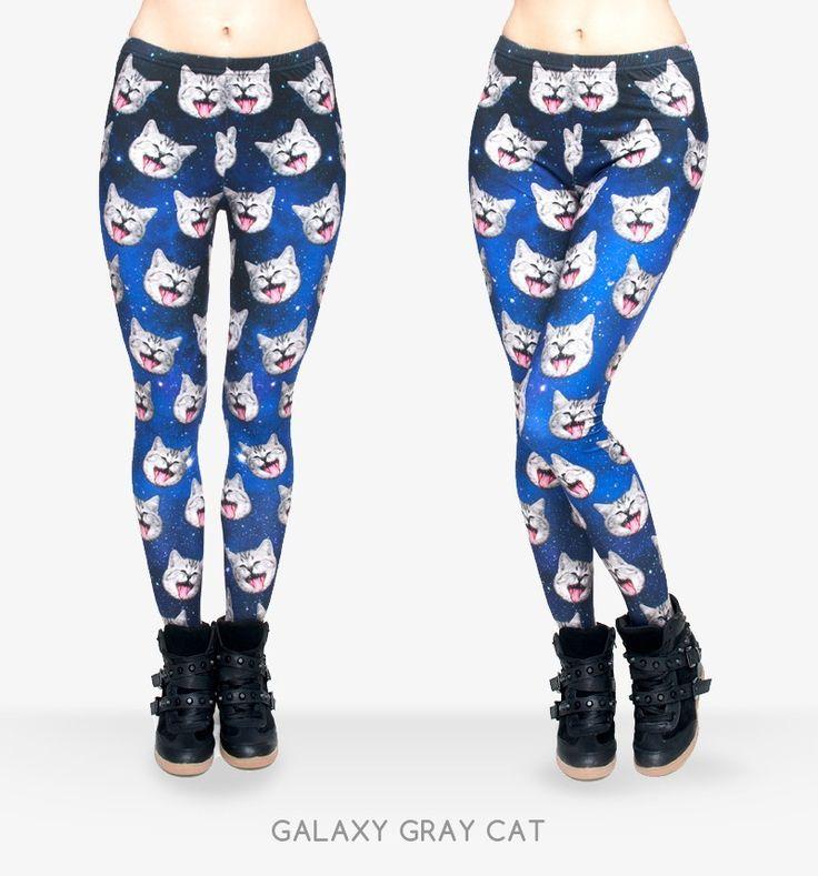 3D Print Galaxy Grey Cat Leggings  //Price: $13.26 & FREE Shipping // /    #leggings #jeggings #leggingslove #leggingsmania #skinny