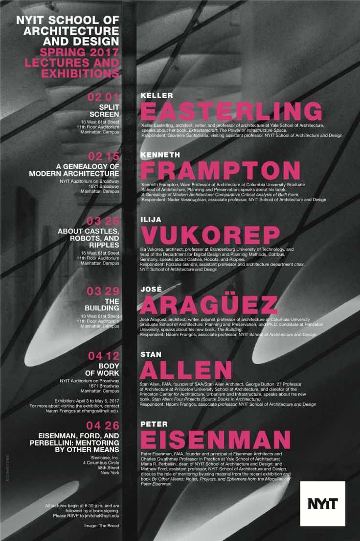 Modern Architecture Font 14 best lecture series posters images on pinterest | reading