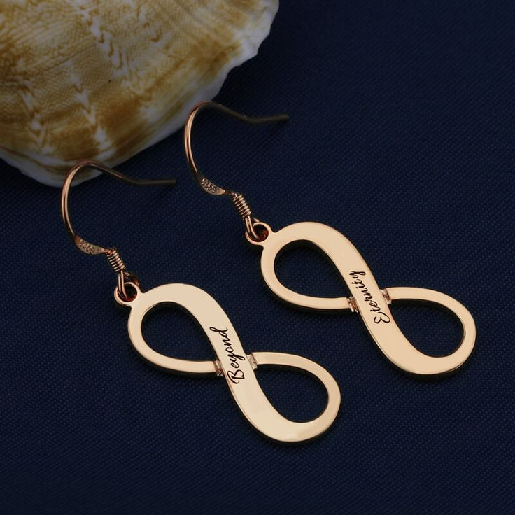 Beautiful Engraved Rose Gold Plated Infinity Earrings infinity earrings, infinity jewelry, david yurman infinity earrings, sterling silver infinity earrings, snowflake earrings, silver hoop earrings, morganite earrings, gold hoop earrings, tanzanite earrings,  diamond earrings, knot earrings, silver earrings, infinity stud earrings, gold infinity earrings, infinity shape earrings, infinity symbol earrings, luxury infinity earrings, 925 infinity earrings