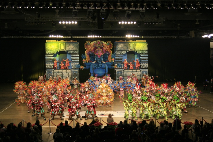 Philadelphia Mummers Parade Fancy Brigade Finale (indoor show) at the Pennsylvania Convention Center.