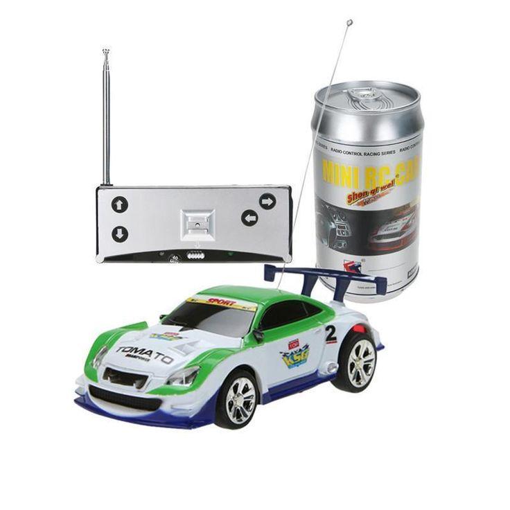 Multicolors Mini 1:58 Coke Can RC Radio Remote Control Micro Racing Car Toy with 4pcs Road Blocks RC Toys Kid's Toys Gifts Дистанционное Упр