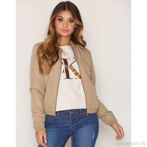 Owra Bomber - Calvin Klein Jeans - Chinchilla - Jakker - Tøj - Kvinde QQcaIbsv