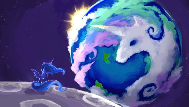 This is what Princess Luna saw from the moon
