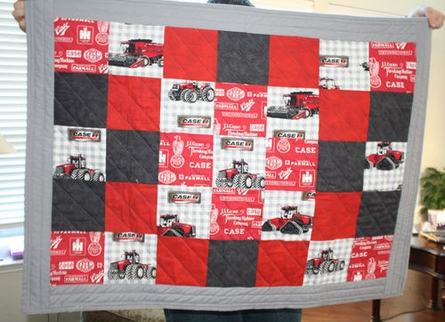 case tractor quilt. Pretty sure I can make this....