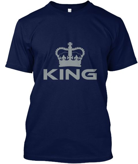 King Navy T-Shirt Front
