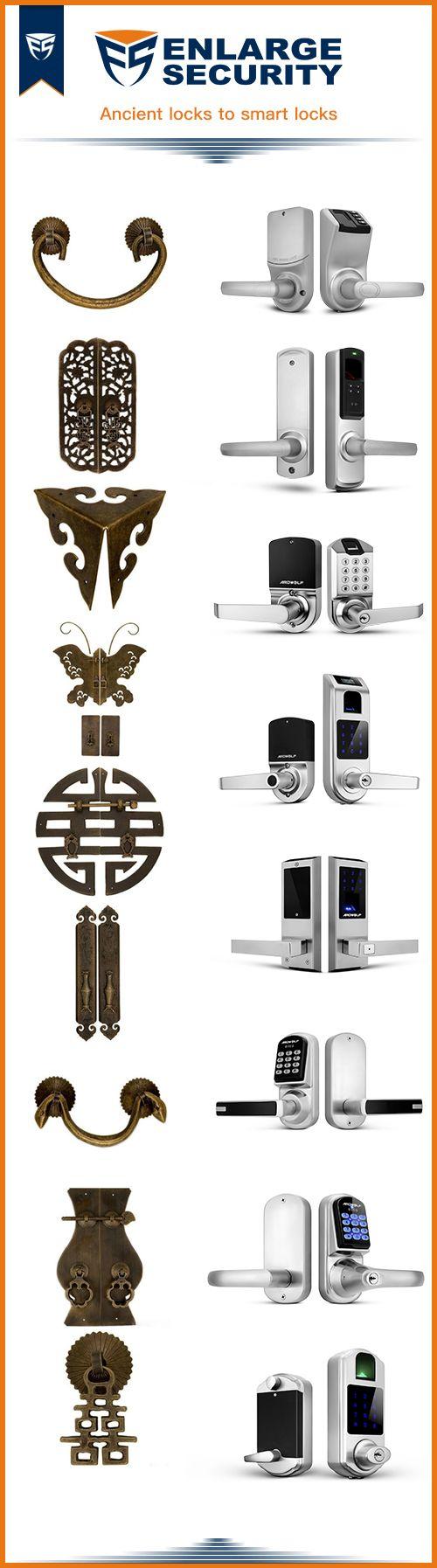 The evolution of door locks, from ancient door locks to the current smart door locks. Check out the smart door locks at EnlargeSecurity.
